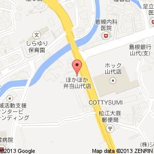 ほかほか弁当の地図
