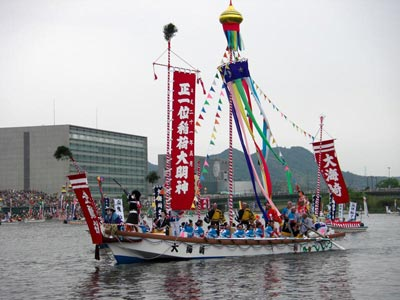 平成21年ホーランエンヤ 渡御祭 五番船・大海崎櫂伝馬