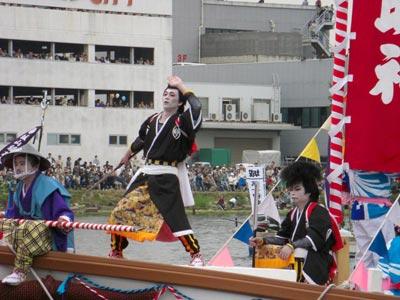 平成21年ホーランエンヤ 渡御祭 五番船・大海崎櫂伝馬 剣櫂