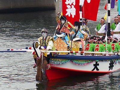 平成21年ホーランエンヤ 渡御祭 三番船・大井櫂伝馬 剣櫂