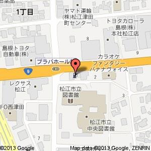 ローソン 松江西津田六丁目店?の地図