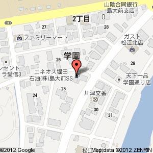 堀田石油 島大前SSの地図