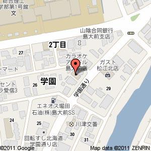 カラオケアイドル 島大前店の地図