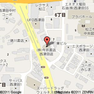 今井書店 西津田店の地図