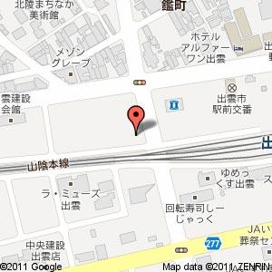 居心伝 出雲駅北町店の地図