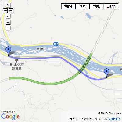 出雲三刀屋線 船津工区の地図