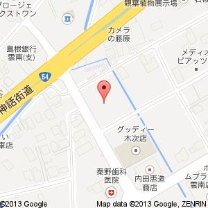JA雲南 中央支店(仮称)の地図
