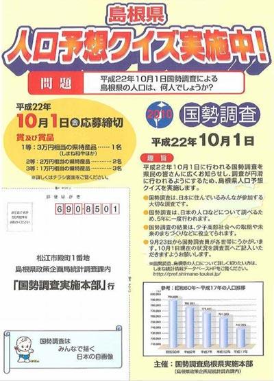 島根県人口予想クイズ