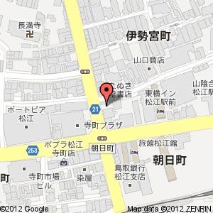 日向市じとっこ組合 島根松江店の地図