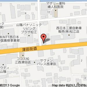 JOMOネット山陰 津田ステーション跡地の地図