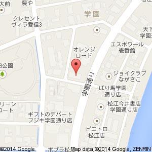 炉端かば 松江学園通り店の地図