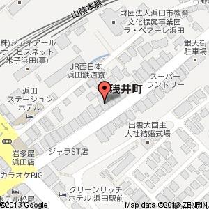 炉端かば 浜田店の地図