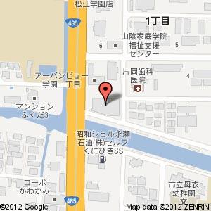 快活CLUB 松江店の地図