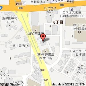 拉麺屋 神楽 西津田店の地図