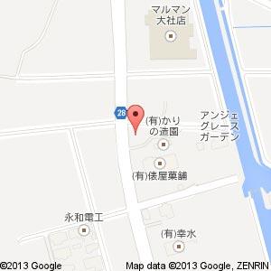 ブライダルサロンかわせ 新店舗の地図