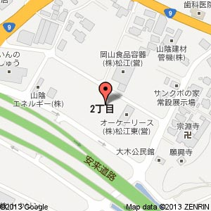 グループホーム東出雲の地図