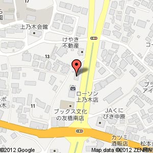 癒し処きらく 松江店の地図