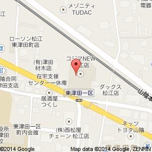 コジマ NEW松江店の地図