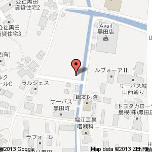 山里の香り ここな黒田店の地図