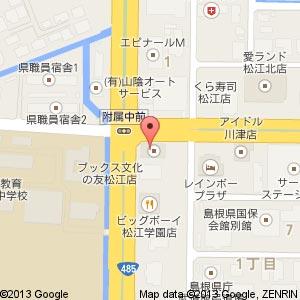 コメダ珈琲店 松江学園店の地図