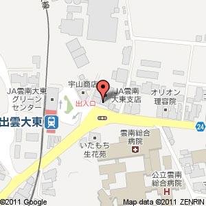 パン工房 米風香の地図