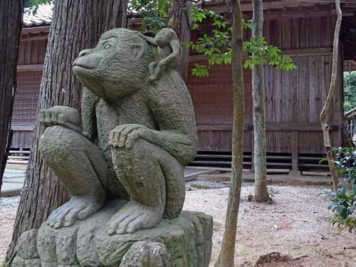 許曽志神社の狛猿
