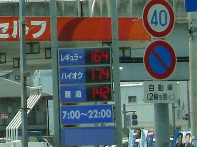 高知市のガソリン価格