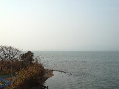 2009年黄砂 宍道から平田を望む