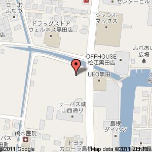 黒田ファッションモールの地図