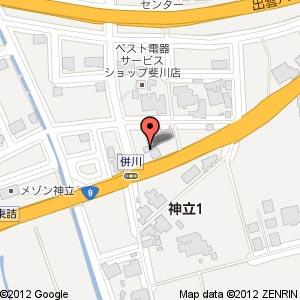 くるま市場の地図