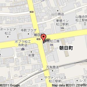 「居酒屋 串まん 松江駅前店」の地図