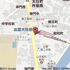 LAUT 大社神門通り店の地図