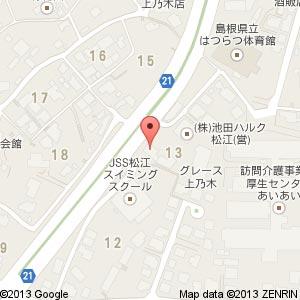 ローソン 松江上乃木七丁目店の地図