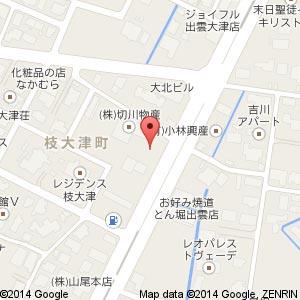ローソン 出雲枝大津町店の地図