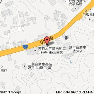 ローソン 浜田長沢町店の地図