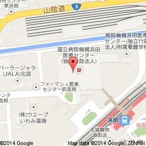 ローソン 浜田医療センター店の地図