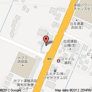 ローソン 浜田周府店の地図