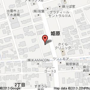 ローソン 出雲姫原二丁目店の地図