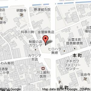 ローソン 出雲今市町本町店の地図