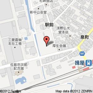 ローソン揖屋駅前店?の地図