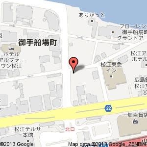 ローソン 松江御手船場町店の地図