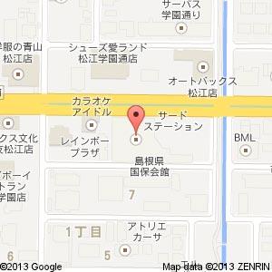 万代書店 新松江店(仮称)の地図