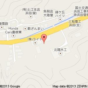 マンモス浜田店(仮称)の地図