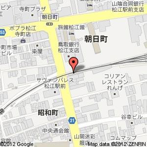 江戸前からあげ専門店 まる金(○金) 松江朝日町店の地図