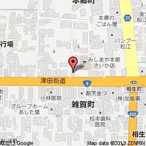 ベークショップ マルシンの地図