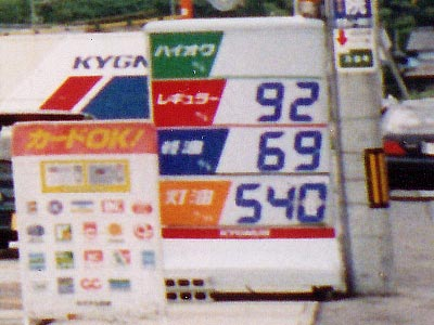 10年前の松江SS価格看板