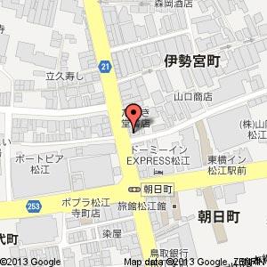 松江新橋倶楽部の地図