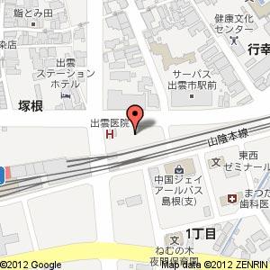 メディアカフェアリオン 出雲店の地図