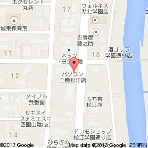 眼鏡市場 松江学園通り店の地図