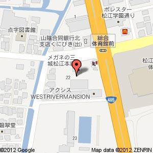 メガネの三城 松江本店の地図